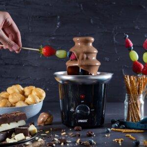 fonduta, cioccolato, fontana, princess, dolce, princess home, ricetta