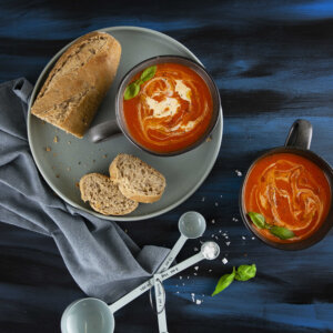 zuppa, pomodoro, salvia, cannella, soup, blender, princess, princess home, ricetta