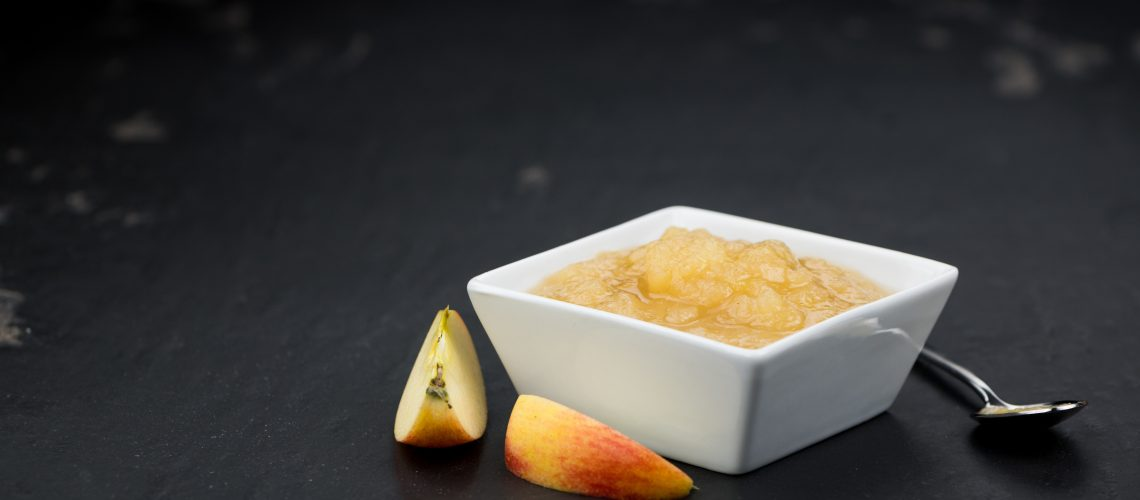 Homemade apple compote