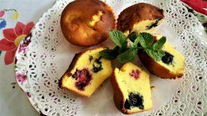 Muffin, frutti, frutta, mirtilli, more, lamponi, ricetta, forno, aerofryer, princess, princess home, friggitrice ad aria, dolce, dessert