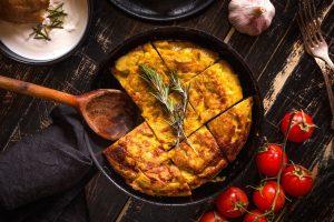 Spanish omelette with onion and tomato, frittata, cipolla, cipolle, princess home, princess, tortilla, chef, ricetta