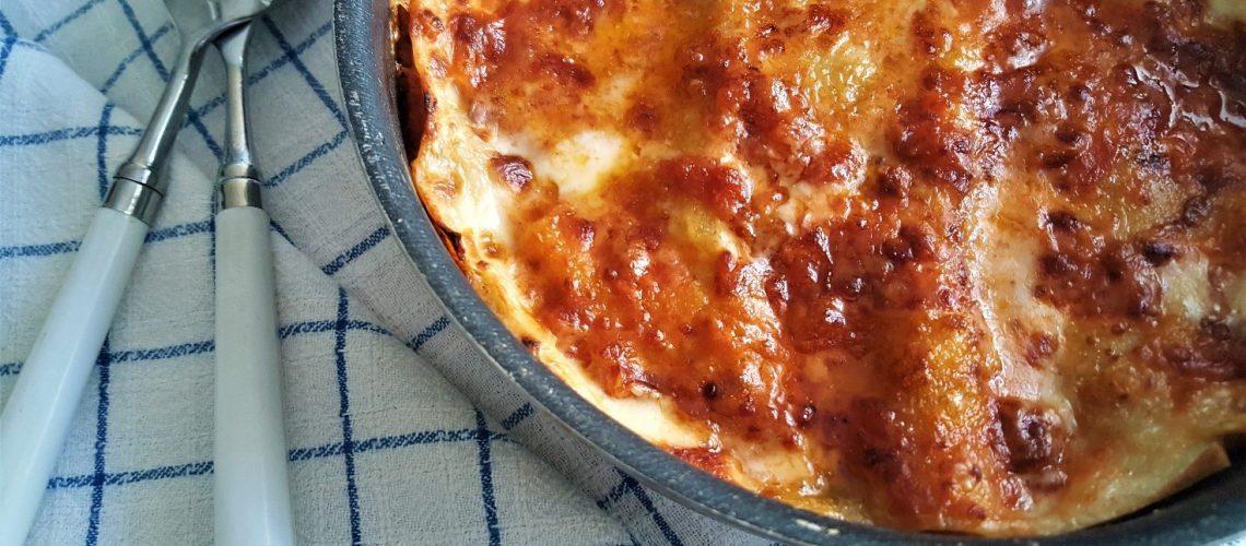 Lasagne alla bolognese con spinacino