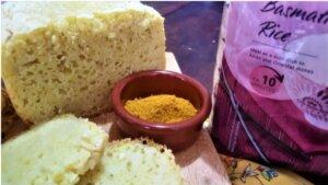 pane di riso al curry, panettiera, princess home, princess, ricetta, pane fatto in casa, macchina del pane
